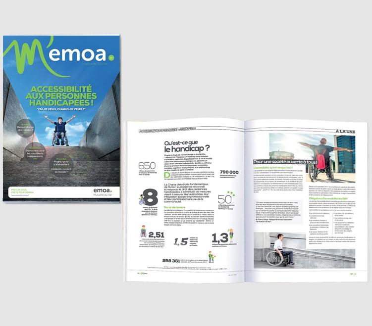 M'EMOA : un nouveau look pour un mag' qui fait du bien !